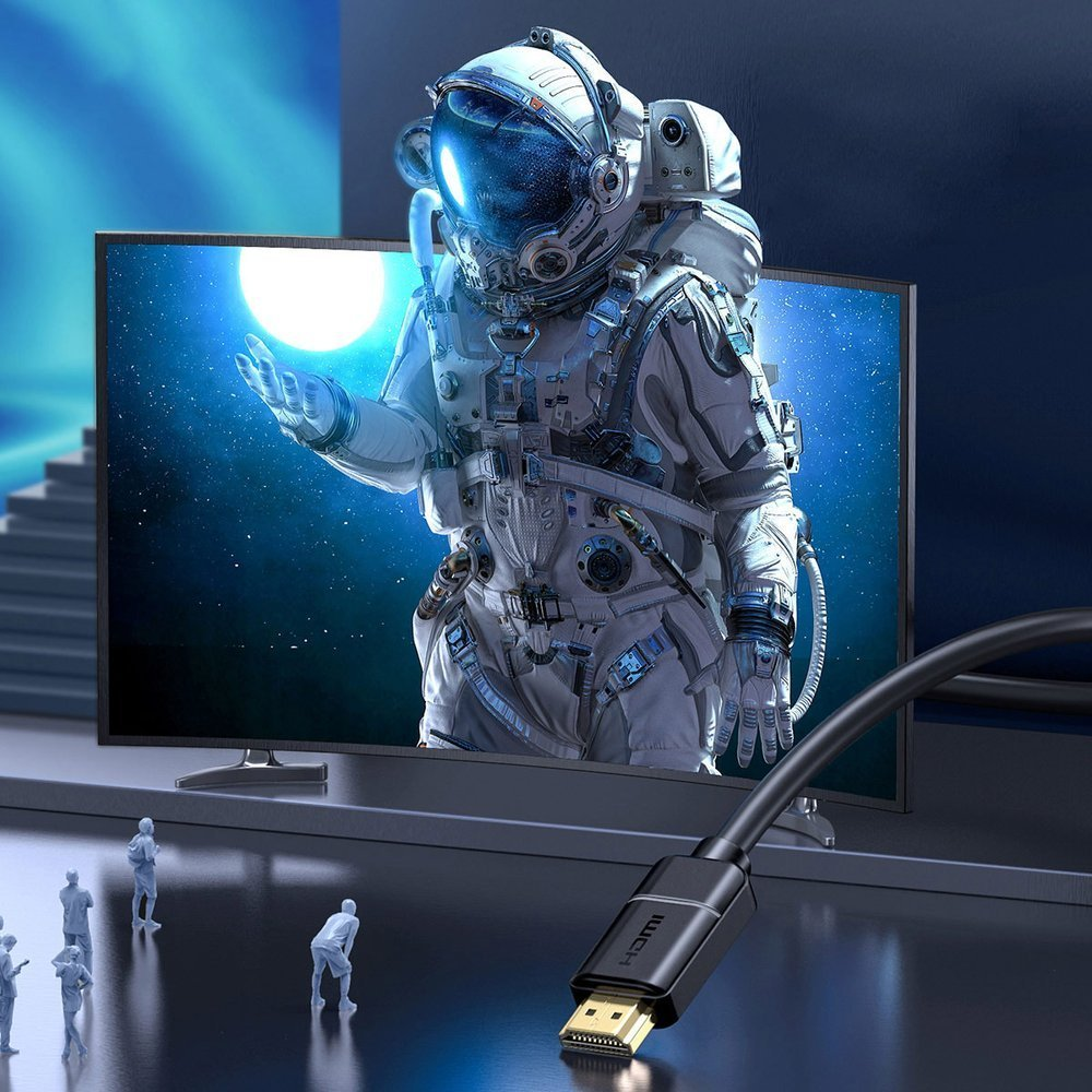 Baseus HDMI 2.0 cable 4K 30 Hz 3D HDR 18 Gbps 5 m black