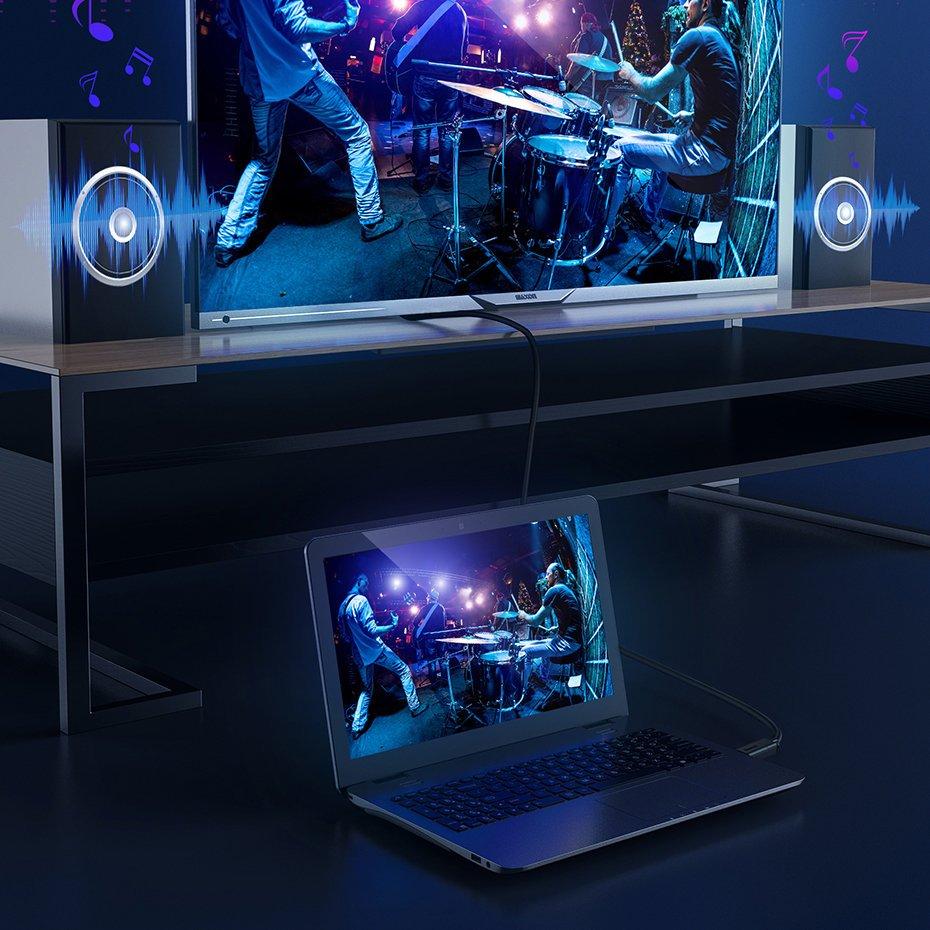 Baseus HDMI 2.0 cable 4K 60 Hz 3D HDR 18 Gbps 1 m black