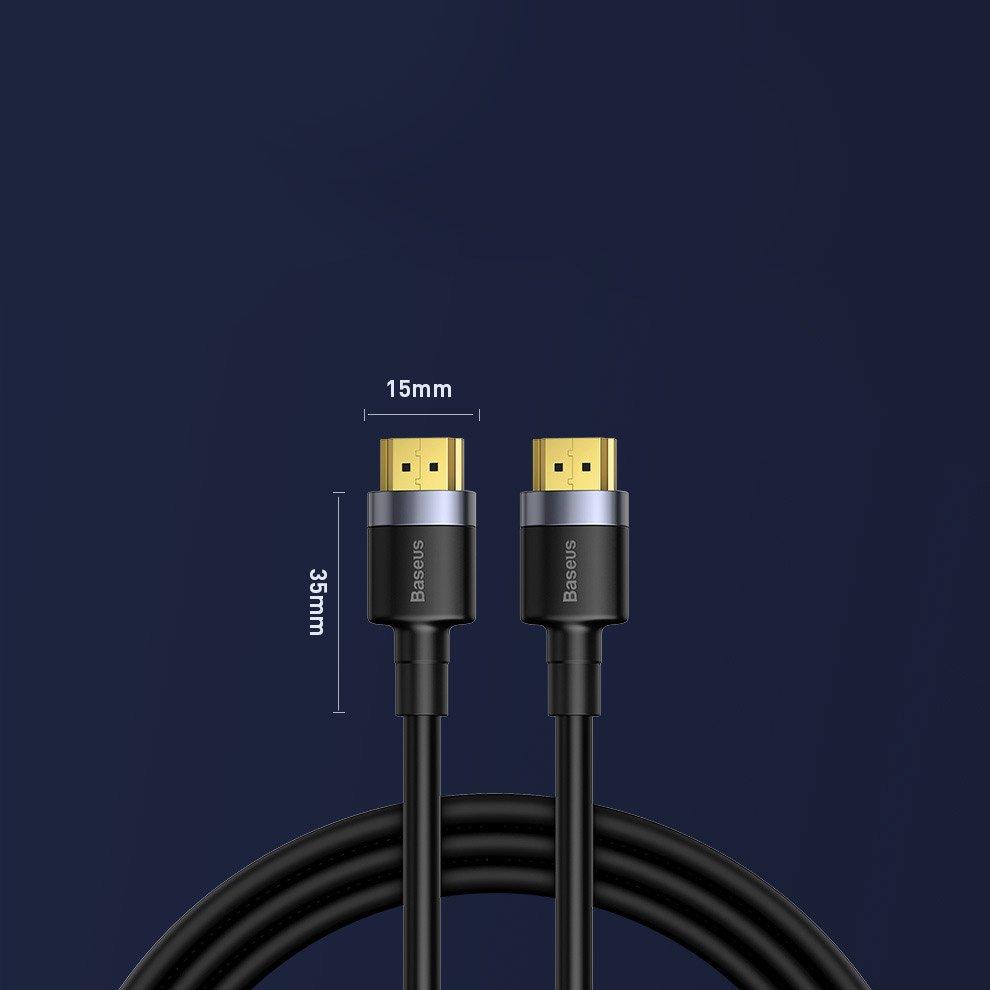 Baseus Cafule HDMI 2.0 cable 4K 60 Hz 3D 18 Gbps 2 m black