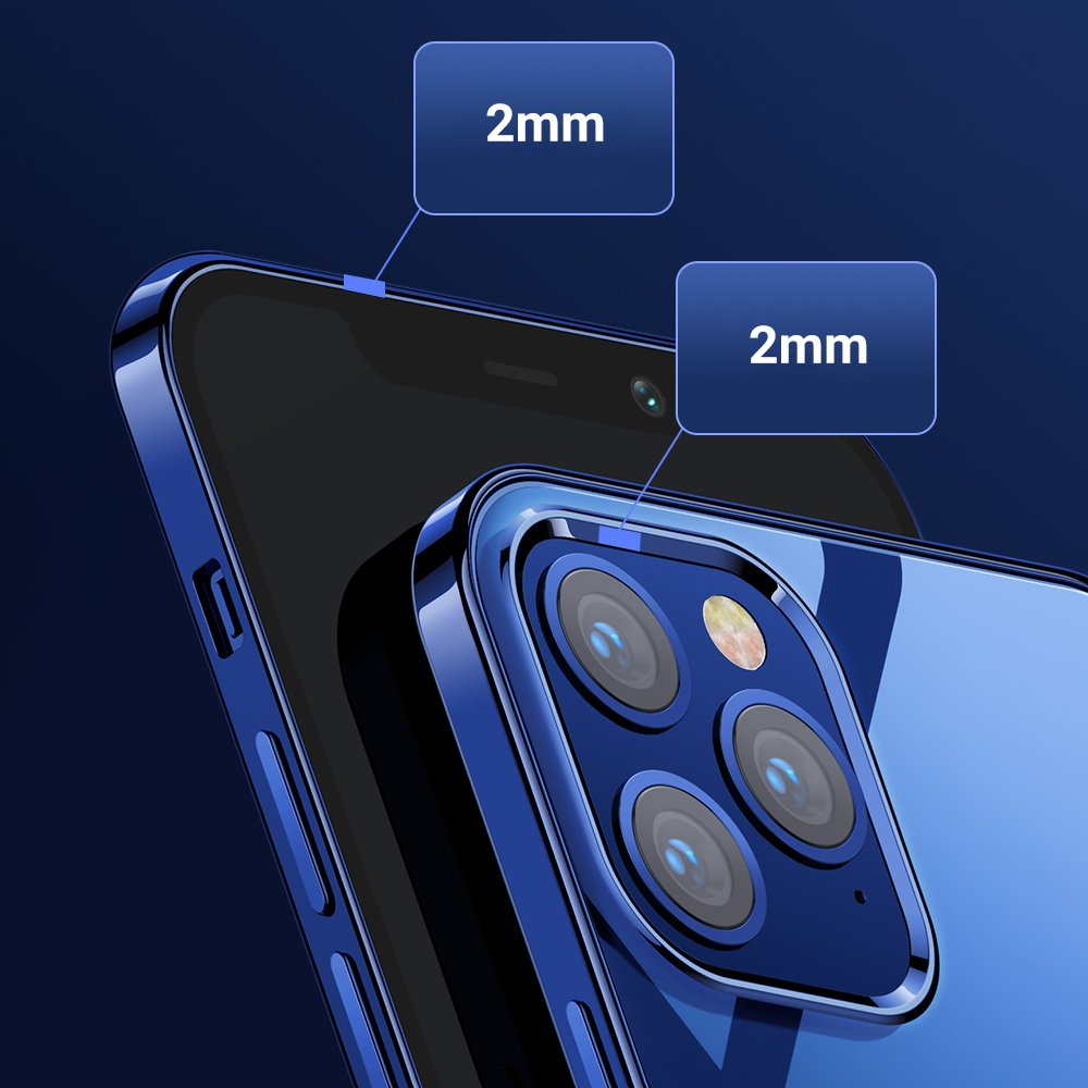Joyroom New Beautiful Series ultra thin case with electroplated frame for iPhone 12 Pro / iPhone 12
