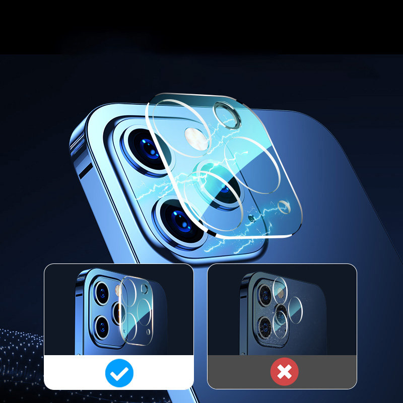 Joyroom Mirror Series full lens protector camera tempered glass for iPhone 12 transparent