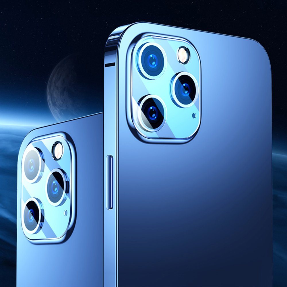 Joyroom Mirror Series full lens protector camera tempered glass for iPhone 12 Pro Max transparent