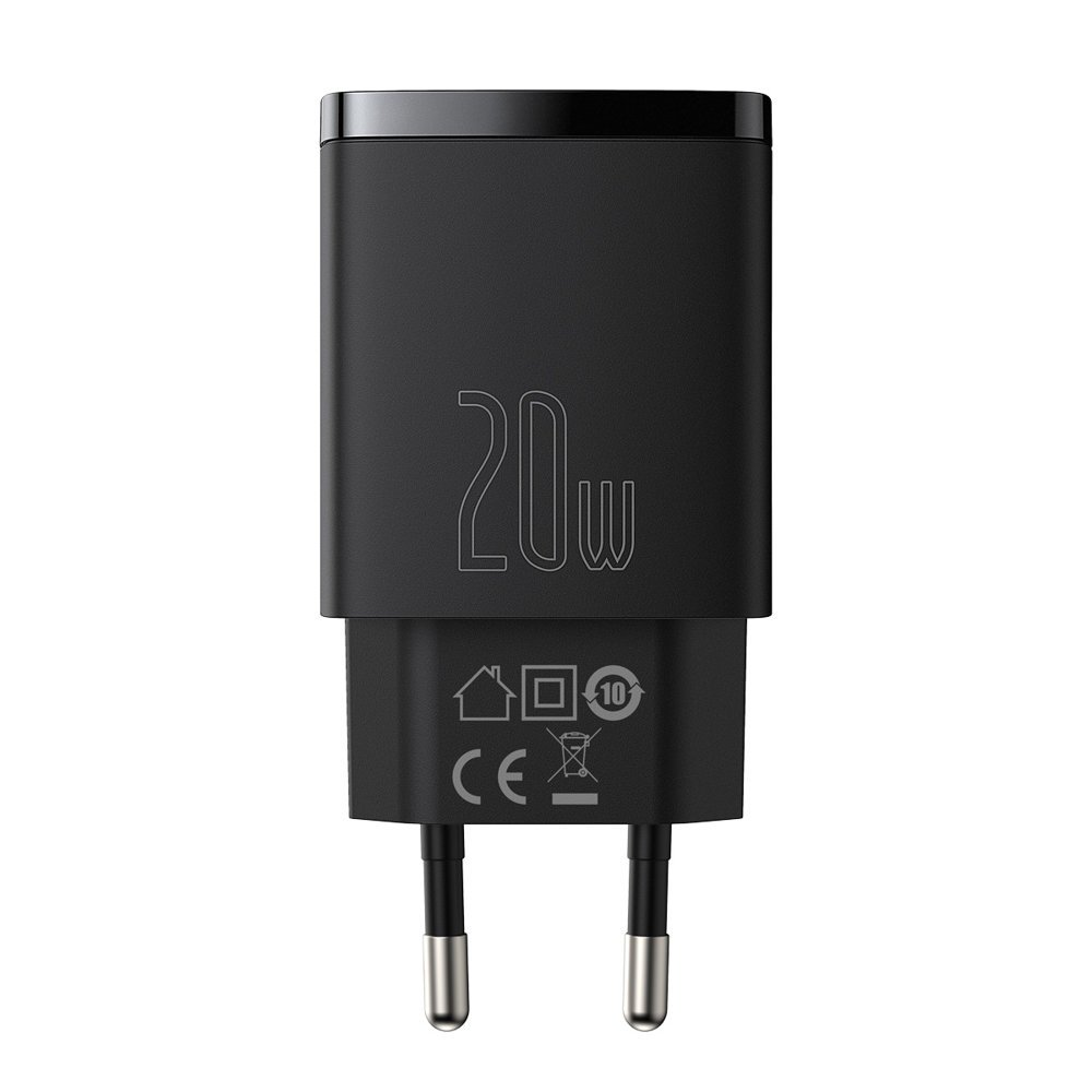 Baseus Compact quick charger USB Type C / USB 20 W 3 A Power Delivery Quick Charge 3.0
