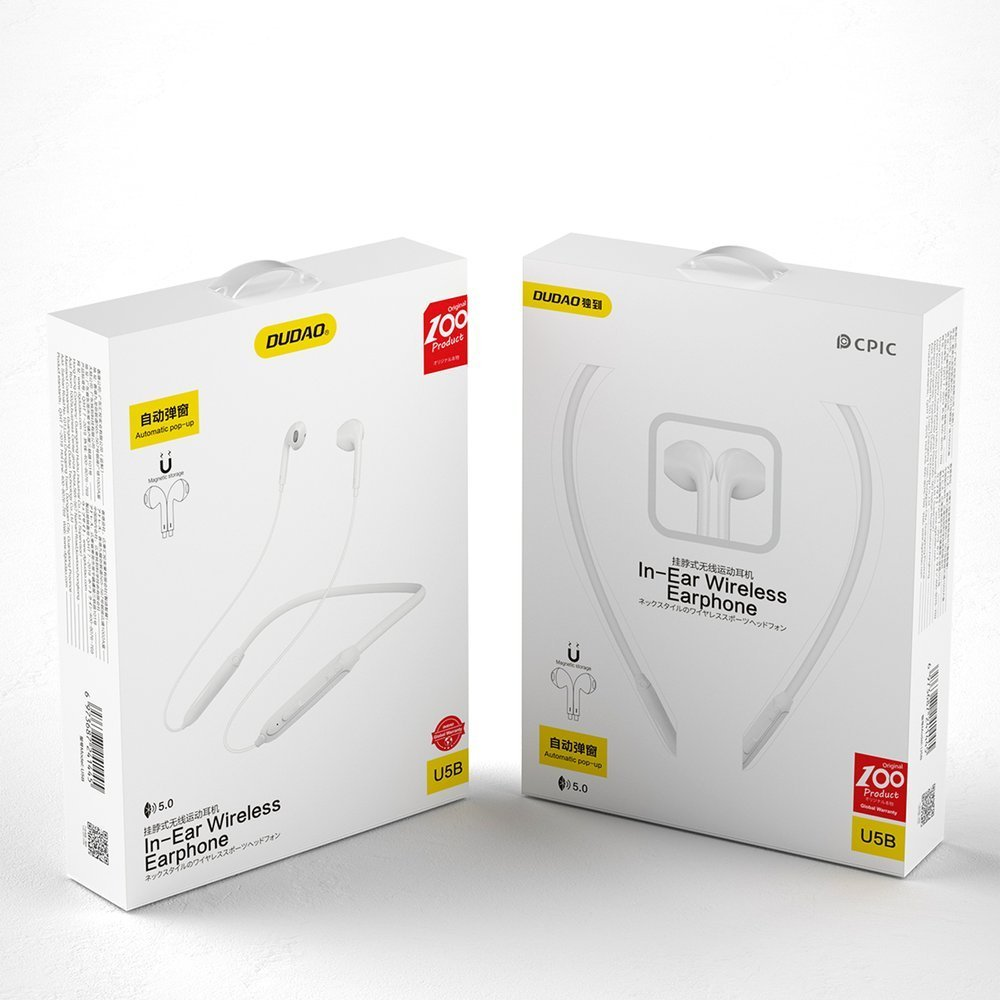 Dudao Magnetic Suction wireless in-ear Bluetooth headphones white