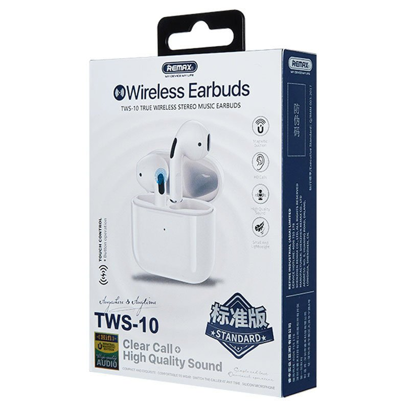 REMAX In-Ear True Wireless Stereo Music Earbuds white