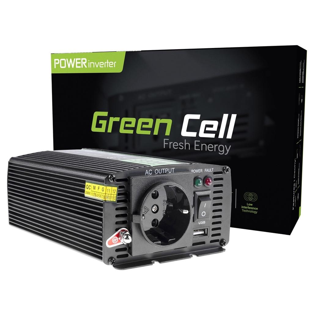 Napetostni pretvornik Green Cell ® 12V do 230V, 300W / 600W