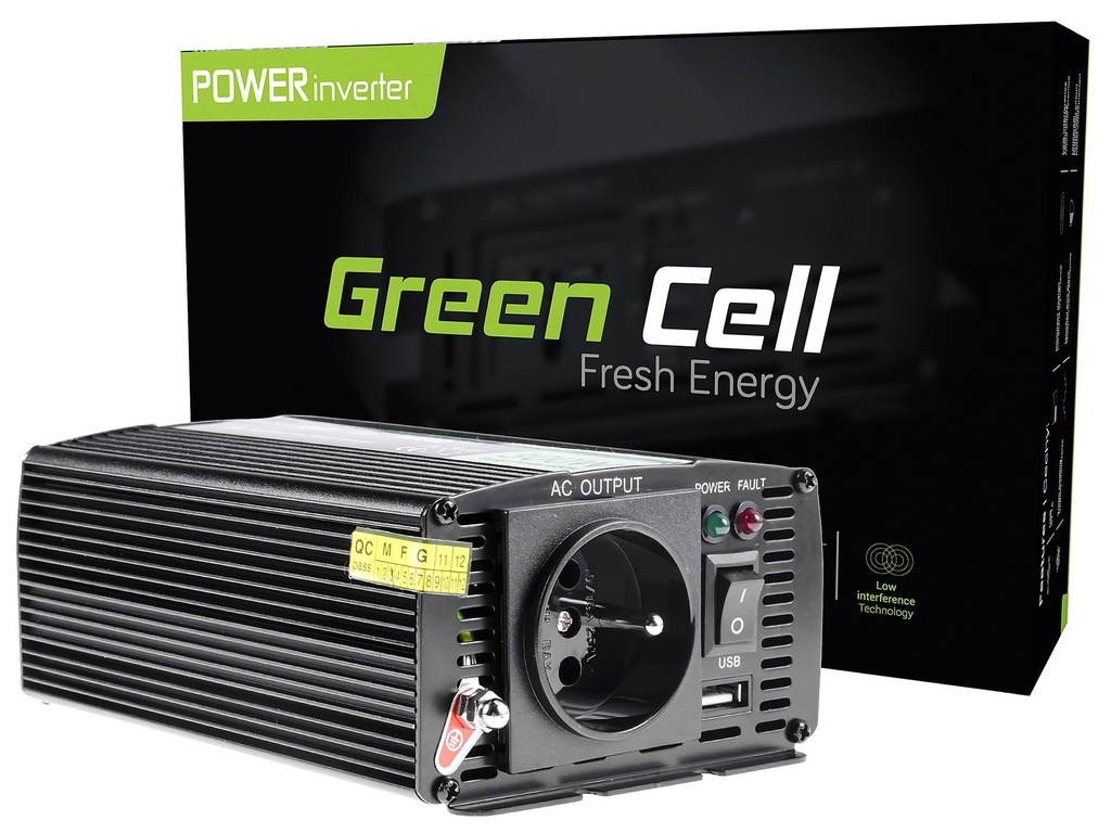 Napetostni avtomobilski pretvornik Green Cell ® 24V do 230V, 300W / 600W
