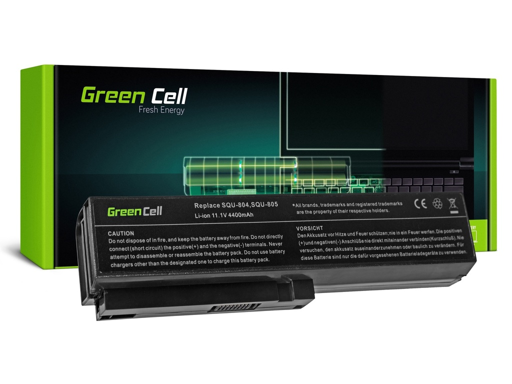 Green Cell baterija za LG XNote R410 R460 R470 R480 R500 R510 R560 R570 R580 R590 / 11,1V 4400mAh