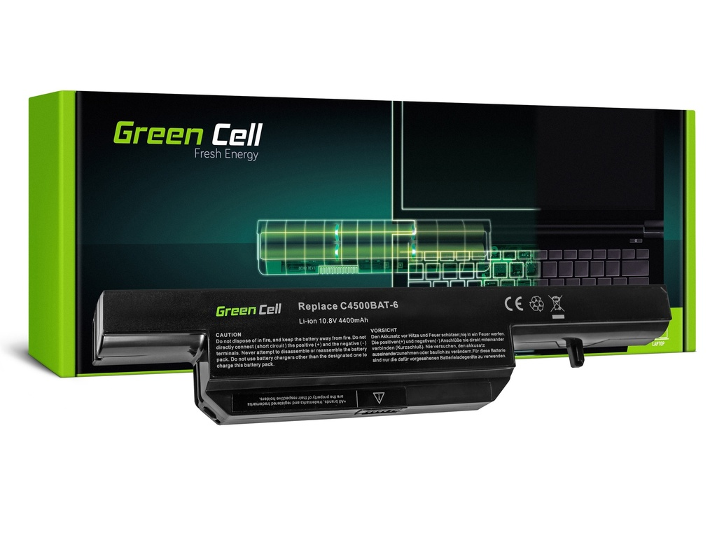 Green Cell baterija za Clevo C4500 C5500 W150 W150ER W170 W170ER W170HR / 11,1V 4400mAh