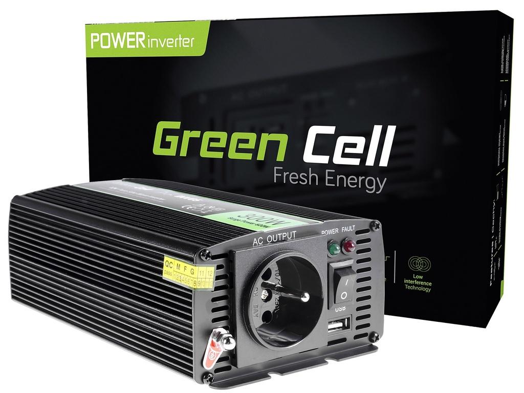 Napetostni avtomobilski pretvornik Green Cell ® 12V do 230V, 300W
