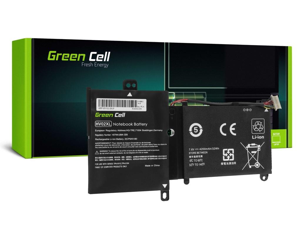 Baterija Green Cell HV02XL za HP Pavilion x360 11-K 11-K002NW 11-K102NW, HP Spectre 13-4000 13-4000NW 13-4100NW