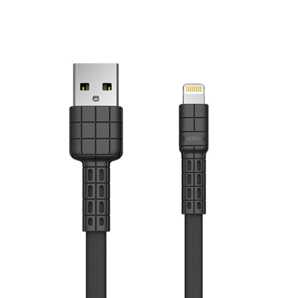 Remax Armor Series ploski kabel USB / Lightning 5V 2.4A modre barve (RC-116i)