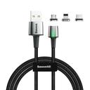 Baseus Zinc lightning + USB Type C + micro USB podatkovni kabel 2A 2m magnetni kabel