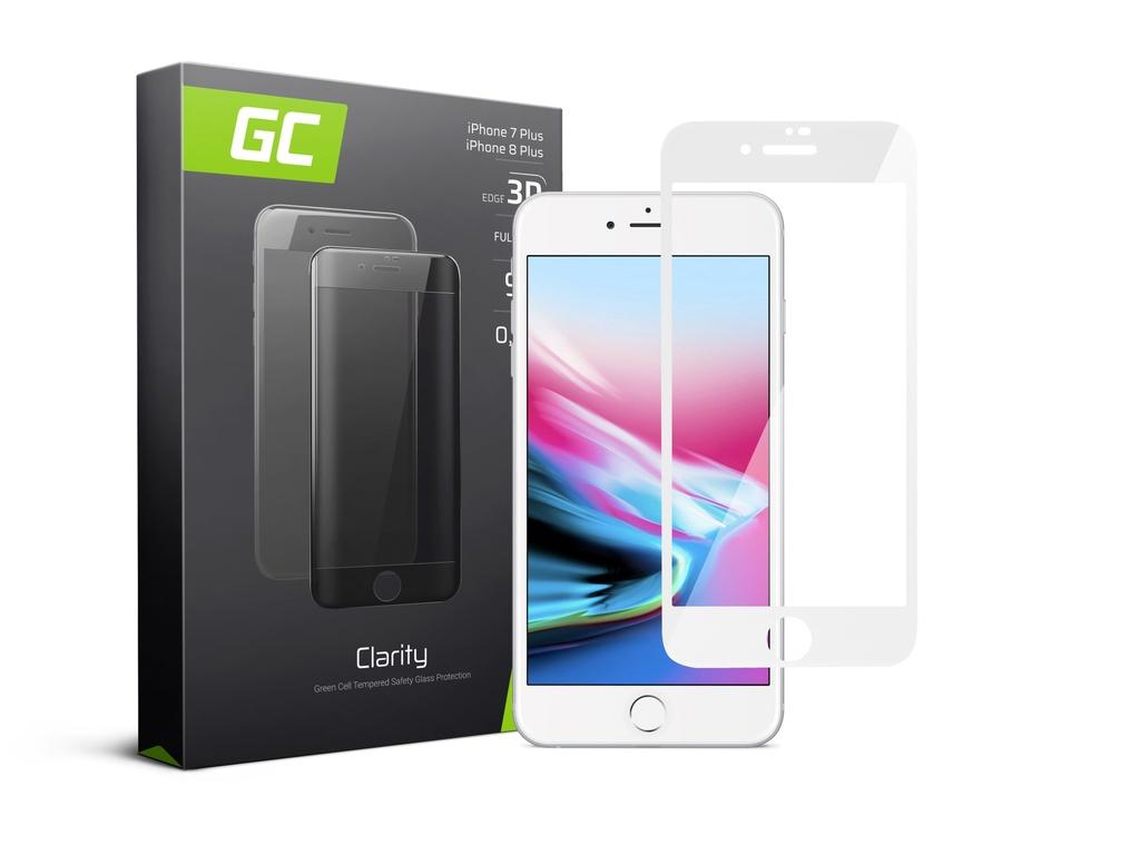 Zaščita zaslona GC Clarity za Apple iPhone 7 Plus, 8 Plus - bela