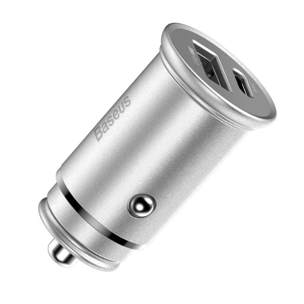Baseus PPS hitri avtomobilski polnilnik USB / USB Typ C Quick Charge 4.0 QC4 + Power Delivery 3.0 VOOC SCP AFC MTKPE črna (CCYS-C01)