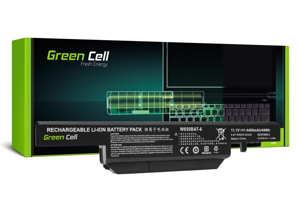 Baterija Green Cell za Clevo W650 W670 / 11,1V 4000mAh