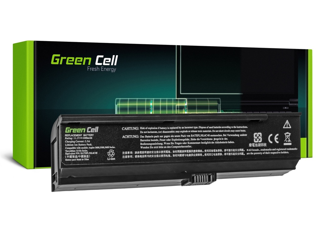 Baterija Green Cell za Acer Aspire 3200 3600 3680 5030 5500 / 11,1V 4400mAh