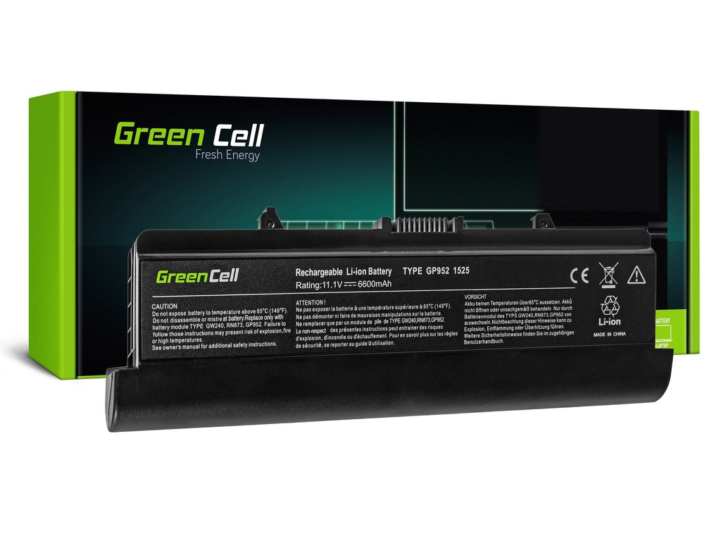 Baterija Green Cell za Dell Inspiron 1525 1526 1545 1546 PP29L PP41L / 11,1V 6600mAh