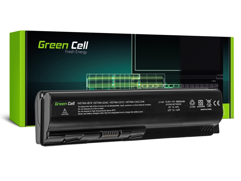 Baterija Green Cell za HP DV4 DV5 DV6 CQ60 CQ70 G50 G70 / 11,1V 8800mAh