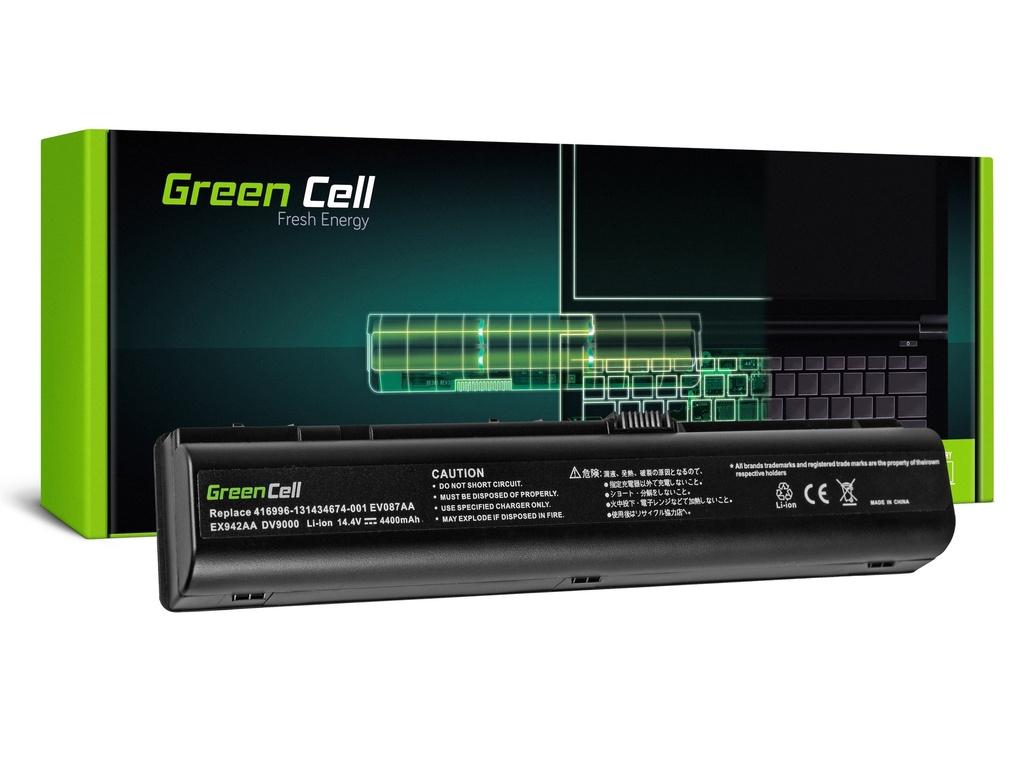 Baterija Green Cell za HP DV9000 DV9500 DV9600 DV9700 DV9800 / 14,4V 4400mAh
