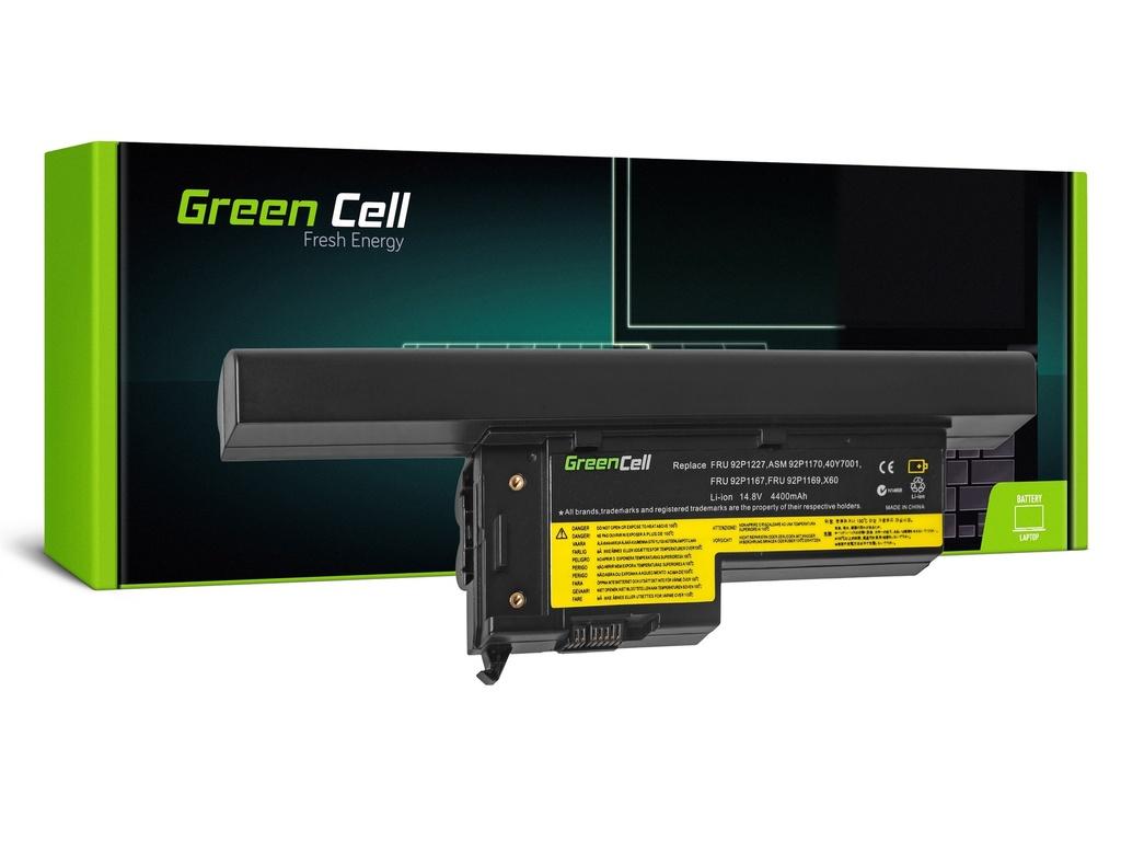 Baterija Green Cell za Lenovo ThinkPad X60 X60s X61 X61s / 14,4V 4400mAh