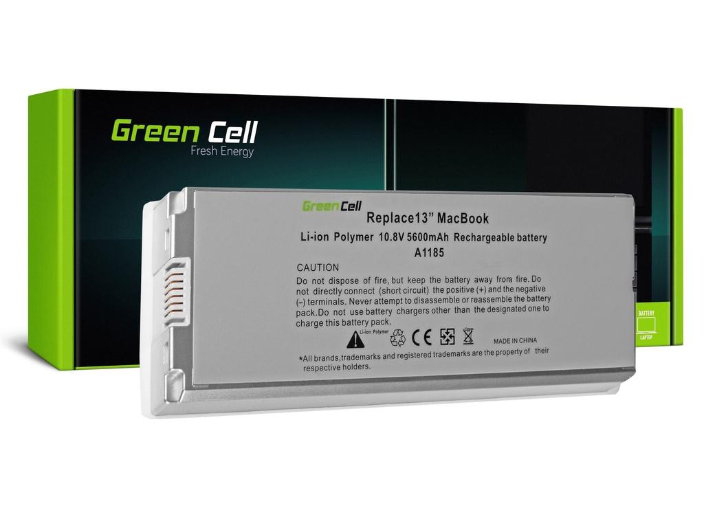 Baterija Green Cell za Apple Macbook 13 A1181 2006-2009 (bela) / 11,1V 5200mAh