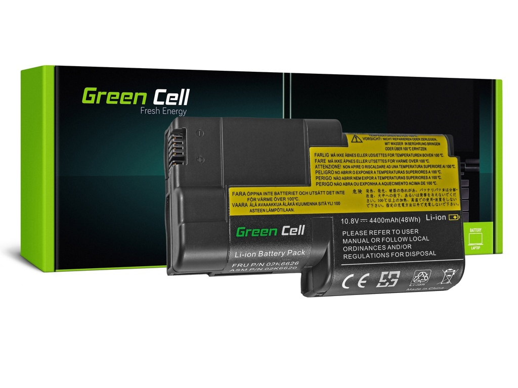 Baterija Green Cell za Lenovo ThinkPad T20 T21 T22 T23 / 11,1V 4400mAh