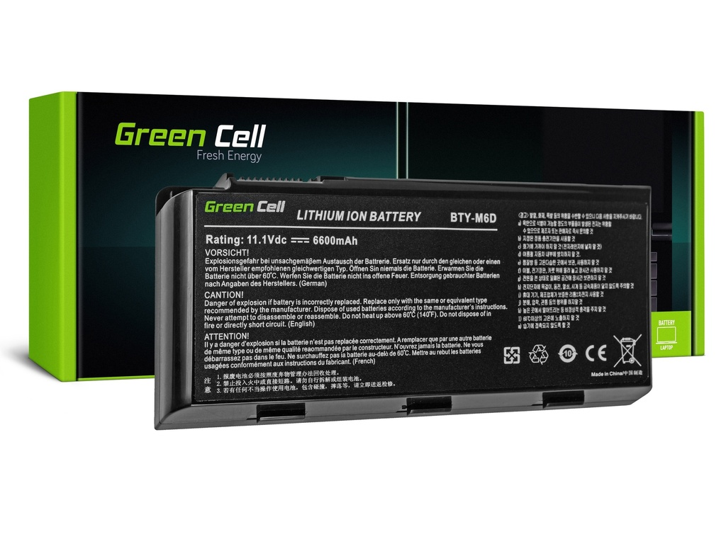 Green Cell baterija za MSI GT60 GT70 GT660 GT680 GT683 GT780 GT783 GX660 GX680 GX780 / 11,1V 6600mAh
