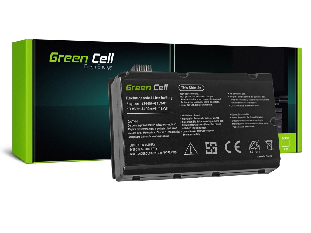 Baterija Green Cell za Fujitsu-Siemens Amilo Pi3525 Pi3540 / 11,1V 4400mAh