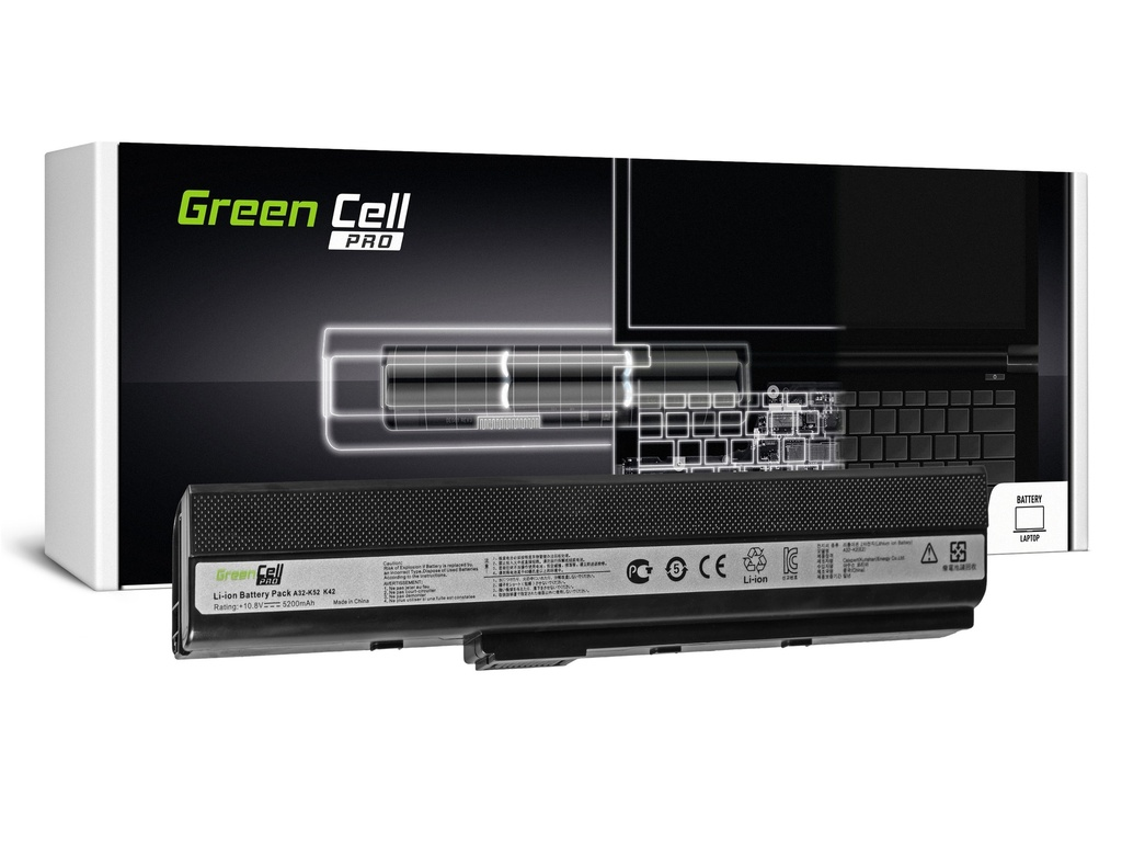 Green Cell PRO baterija za Asus A32-K52 K52 X52 A52 / 11,1V 5200mAh