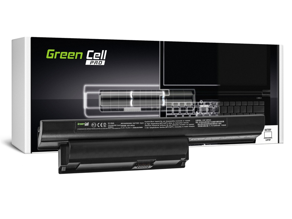 Green Cell PRO baterija za Sony Vaio PCG-71211M PCG-61211M PCG-71212M / 11,1V 5200mAh