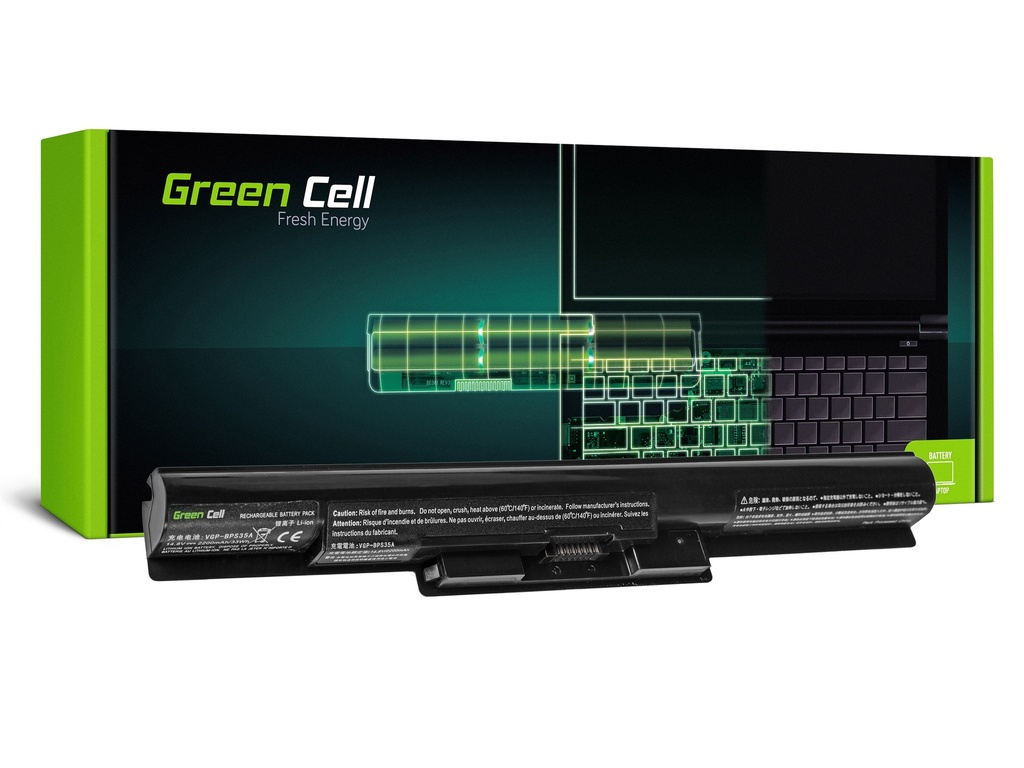 Baterija Green Cell za Sony Vaio SVF14 SVF15 Fit 14E 15E / 14,4V 2200mAh