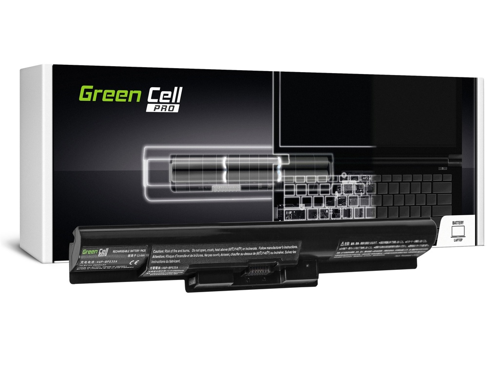 Green Cell PRO baterija za Sony Vaio SVF14 SVF15 Fit 14E 15E / 14,4V 2600mAh