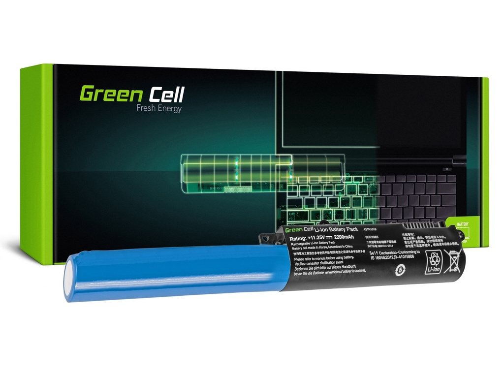 Baterija Green Cell za Asus A31N1519 F540 F540L F540S R540 / 11,25V 2200mAh