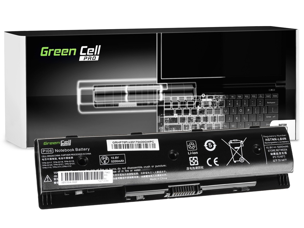 Green Cell PRO Baterija za HP Pavilion 14 15 17 Envy 15 17 / 11,1V 5200mAh