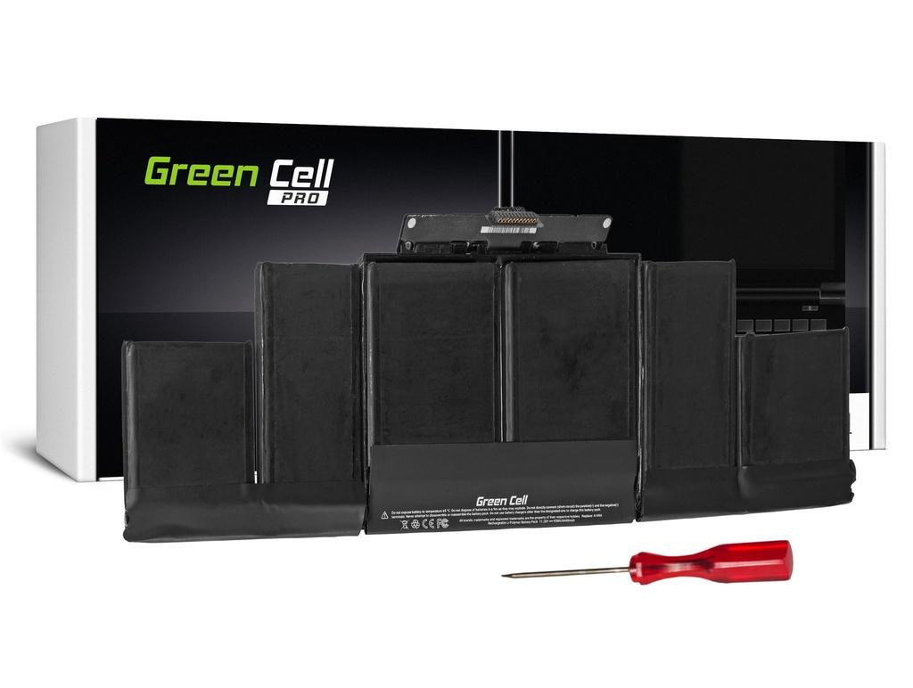 Green Cell PRO baterija za Apple Macbook Pro 15 A1398 (konec 2013, sredina 2014) / 11,26V 8500mAh