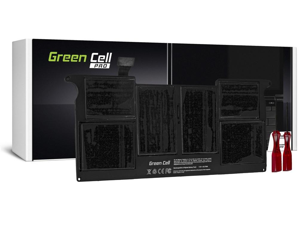 Baterija Green Cell PRO za Apple Macbook Air 11 A1465 (sredina 2013, začetek 2014, začetek 2015) / 7,6V 5100mAh