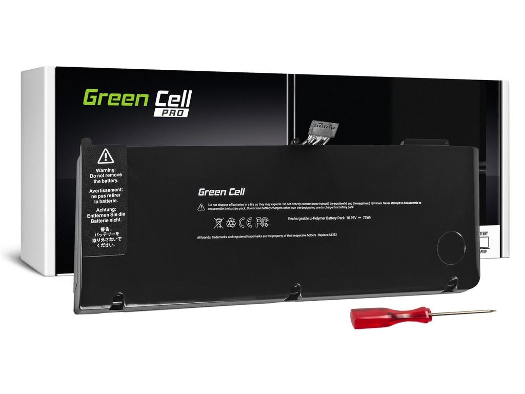 Green Cell PRO Baterija za Apple Macbook Pro 15 A1286 2011-2012 / 10,95V 6700mAh