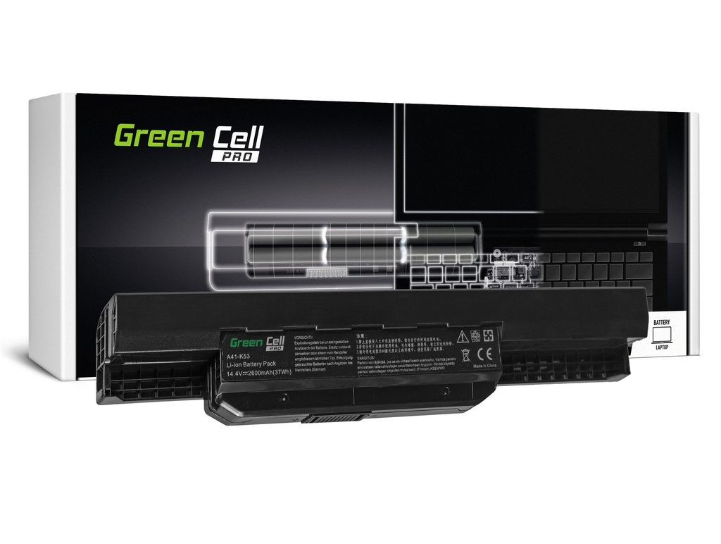 Green Cell PRO baterija za Asus A31-K53 X53S X53T K53E / 14,4V 2600mAh