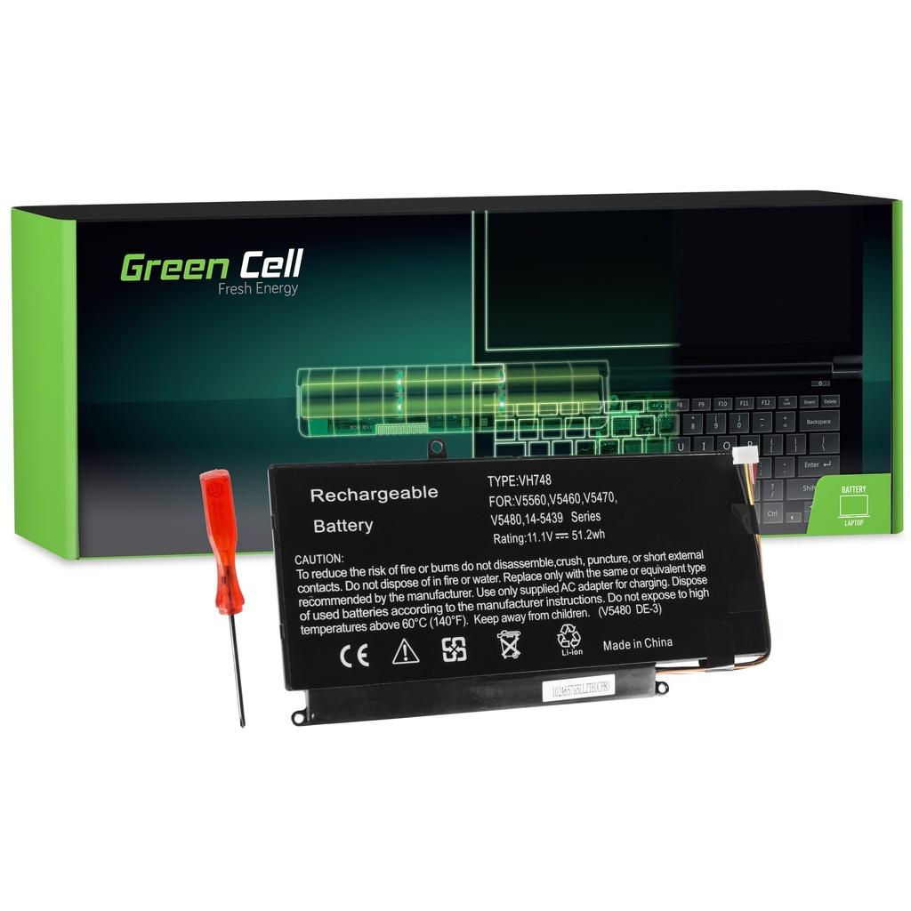 Baterija Green Cell za Dell Vostro 5460 5470 5480 5560 / 11,1V 4500mAh
