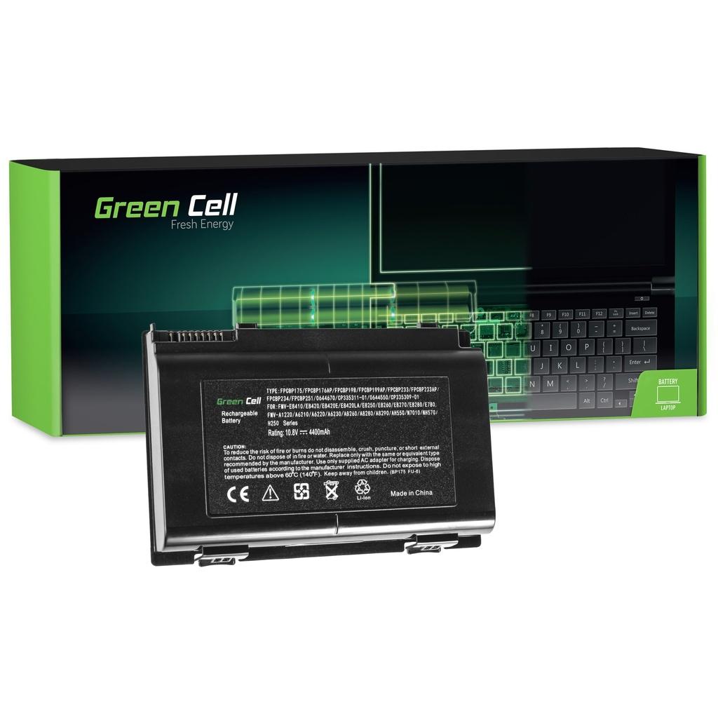 Baterija Green Cell za Fujitsu-Siemens LifeBook E8410 E8420 E780 N7010 AH550 NH570 / 11,1V 4400mAh