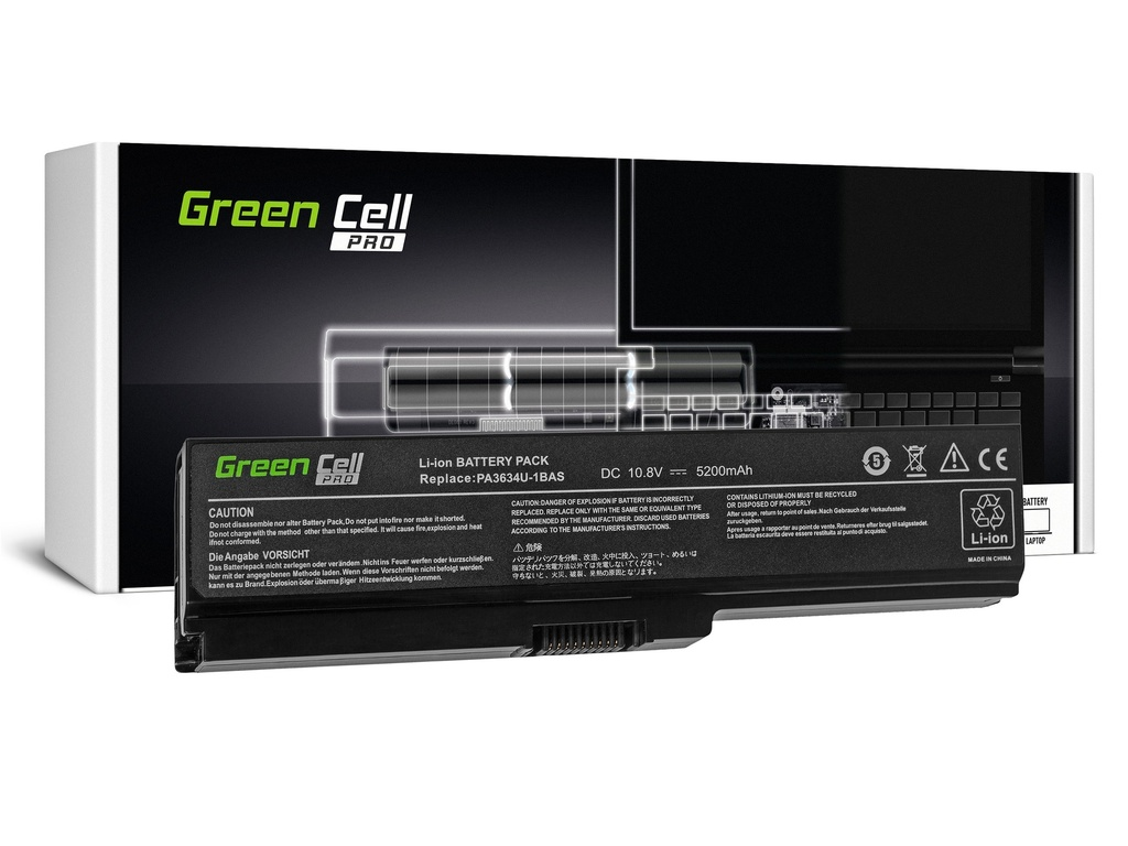 Green Cell PRO baterija za Toshiba Satellite A660 A665 L650 L650D L655 L670 L670D PA3634U-1BRS / 11,1V 5200mAh