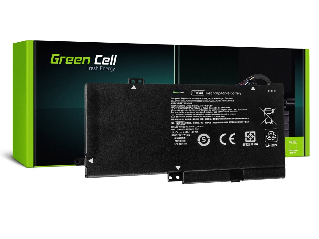 Baterija Green Cell za HP Envy x360 15-W M6-W Pavilion x360 13-S 15-BK / 11,4V 3400mAh