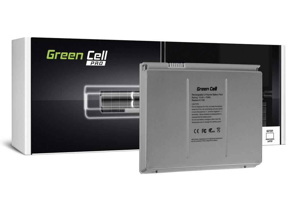 Baterija Green Cell PRO baterija za Apple Macbook Pro 17 A1151 A1212 A1229 A1261 (2006, 2007, 2008) / 11,1V 6500mAh