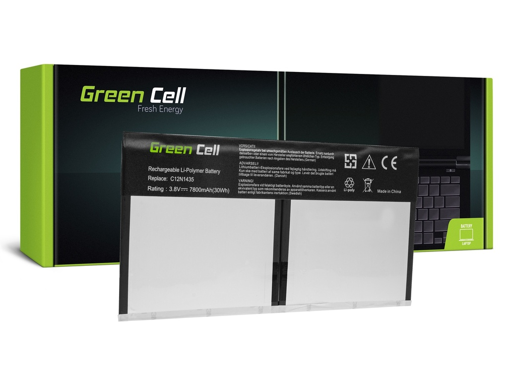 Baterija Green Cell za Asus Transformer Book T100H T100HA / 3,8V 7800mAh