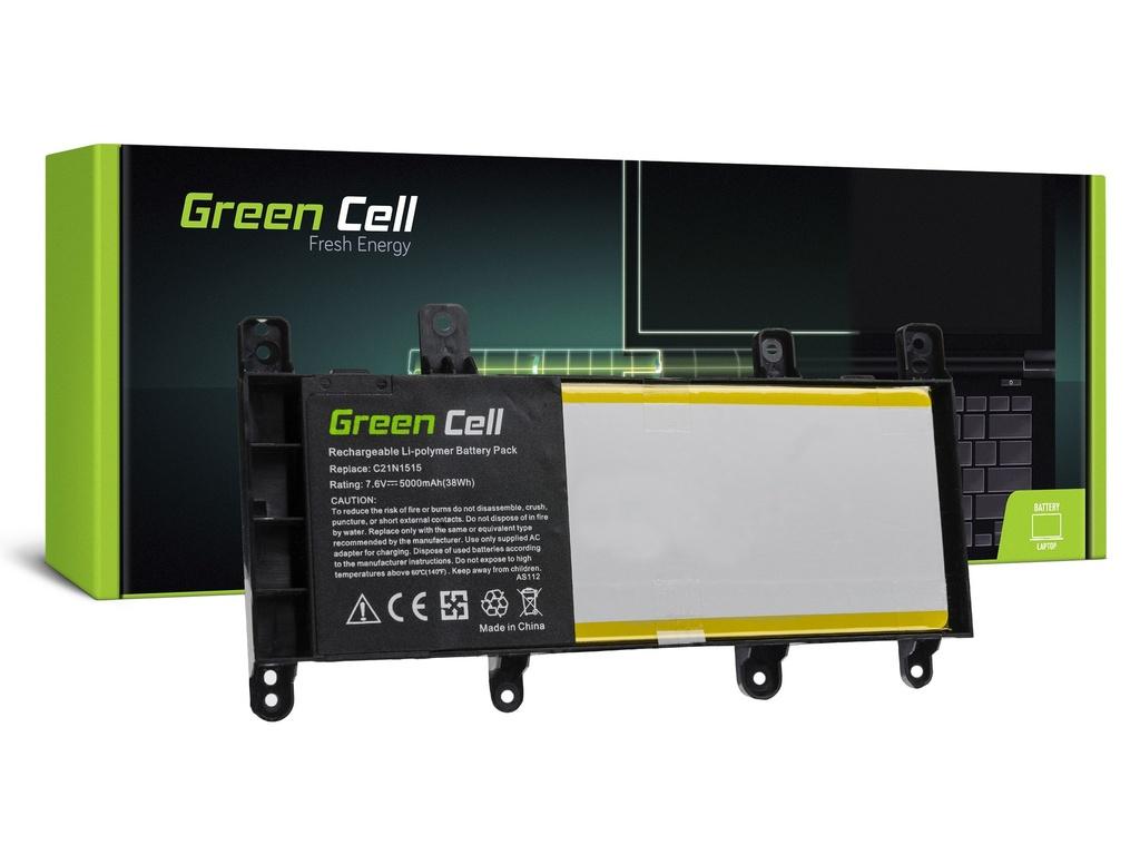 Baterija Green Cell za Asus X756U / 7,6V 5000mAh