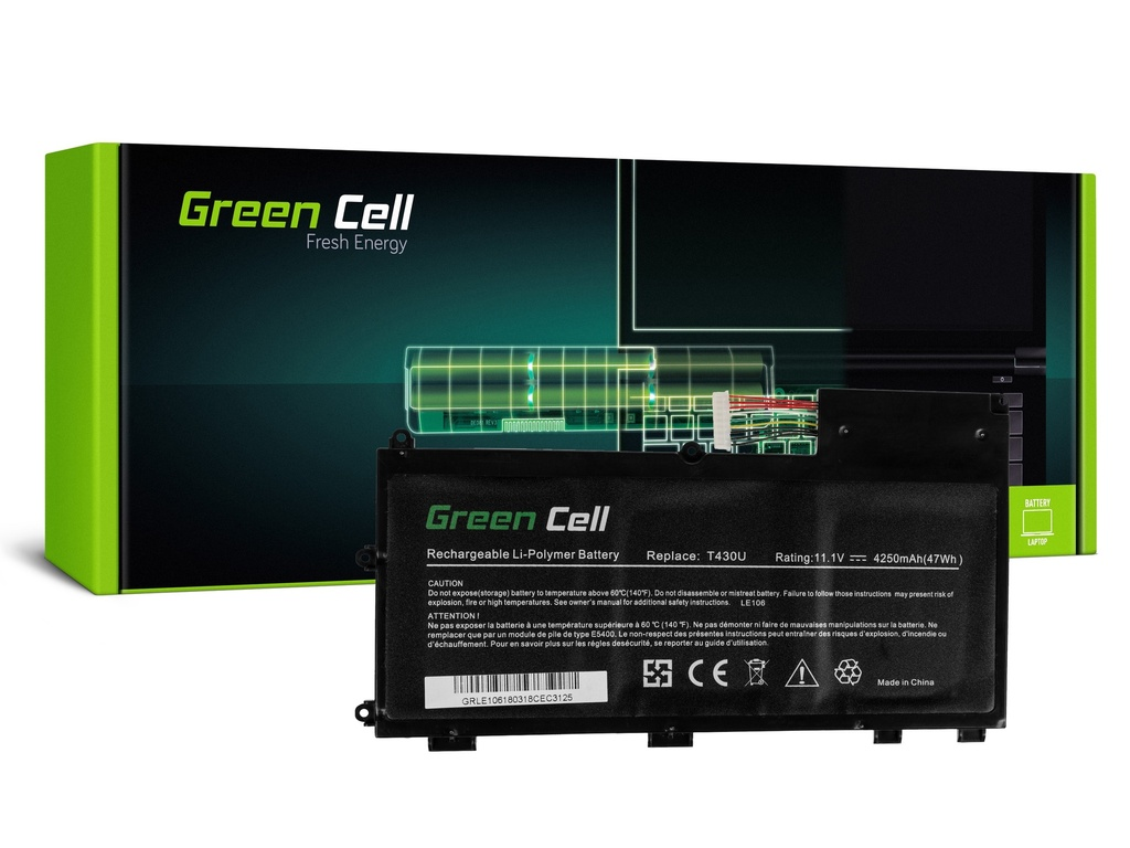 Baterija Green Cell za Lenovo ThinkPad T430u / 11,1V 4250mAh
