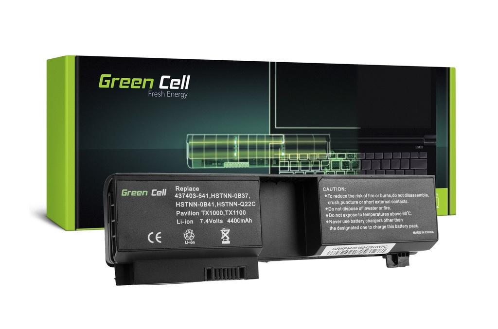 Baterija Green Cell za HP Pavilion TX1000 TX2000 TX2500 / 7,4V 4400mAh