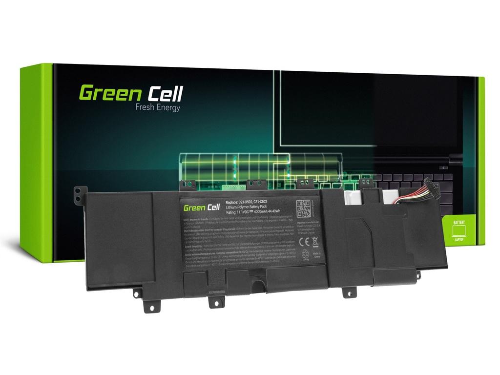 Baterija Green Cell za Asus F502C Ks502C VivoBook S500C / 11,1V 4000mAh