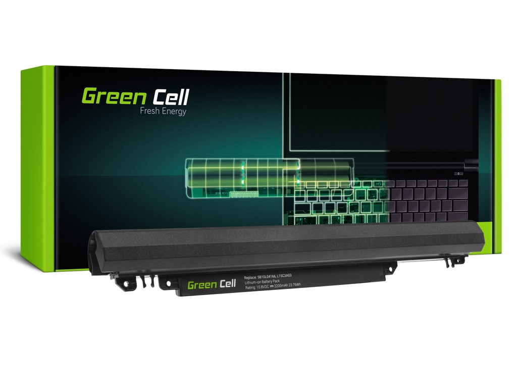 Baterija Green Cell za Lenovo IdeaPad 110-14IBR 110-15ACL 110-15AST 110-15IBR / 11,1V 2200mAh